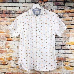 Denim & Flower Sombrero Mariachi Button Up Shirt